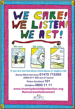 inverclyde child protection committee news we care we listen
